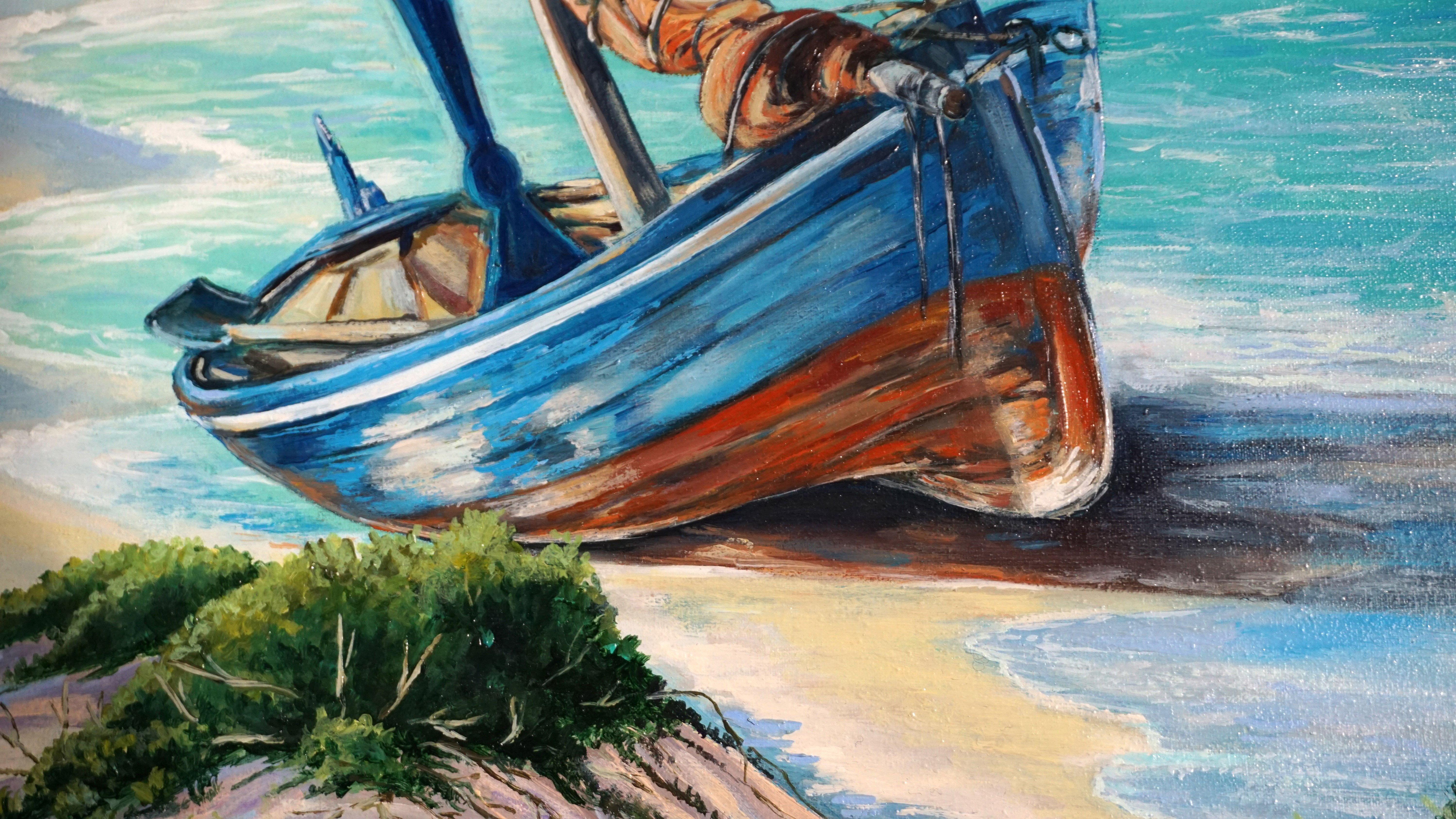 Seaside Villa DIY Oil Painting Paint By Number Kits On