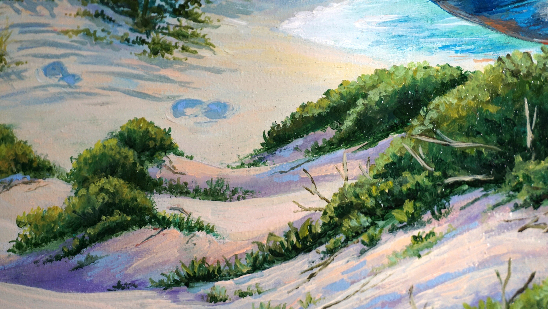 WHITE CASTLE original oil painting 11x14 framed