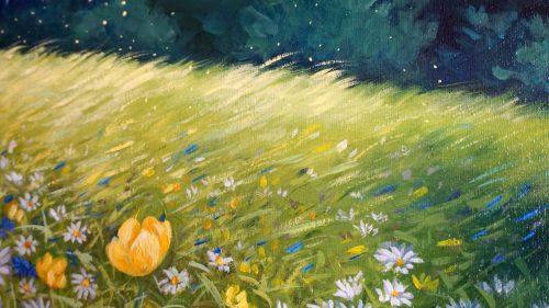 original oil painting by Mari Gru