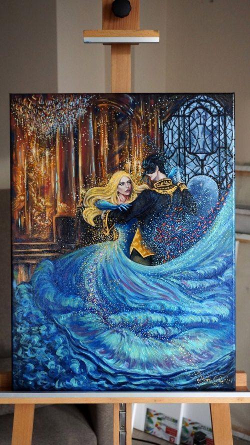 Magic ball oil painting